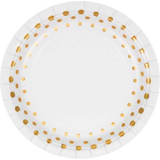 DTC317840PLT: CC Sparkle and Shine Gold Foil Dessert Plates